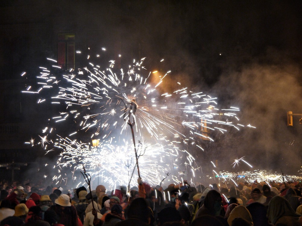 Catalan Tradition: El Correfoc (Running and Dancing with Fireworks)