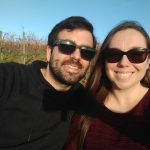 My husband and I in a vineyard in Stuttgart, Germany